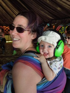 Pystrance festival babywearing!